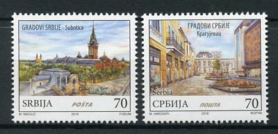 Serbia 2018 MNH Cities Subotica Kragujevac 2v Set Tourism Architecture Stamps
