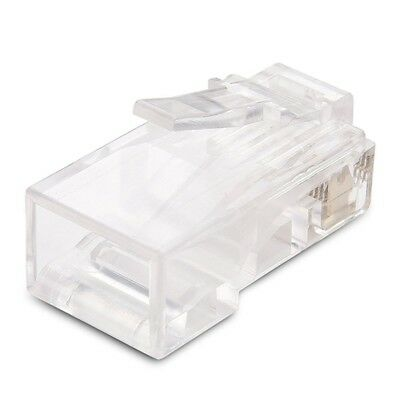 100-Pack Cat 6 RJ45 Modular Plugs for Stranded UTP Cable W7N5 RP