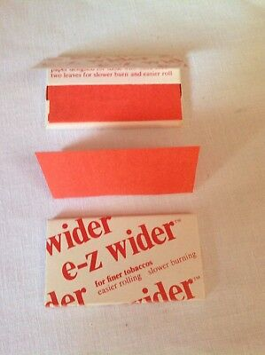 Lot of 2 Ez wider strawberry rolling papers vintage unused NOS