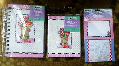 Mary Engelbreit ~ Cherry Items ~ Lot of New ME Notes, Sticky Notes and Journal