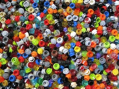 LEGO 1x1 ROUND DOTS LOT OF 500 MULTI COLORED BRAND NEW FREE SHIPPING
