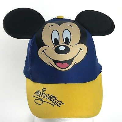 Mickey Mouse Disney Parks Snapback Hat Baseball Cap With Ears Youth Child