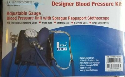 DESIGNER BLOOD PRESSURE KIT: BP UNIT, SPRAGUE STETH & CASE  Model: 100-040GRP