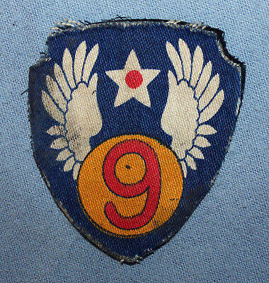 WWII US Army Air Force 9th Air Force Shoulder Patch, British Printed