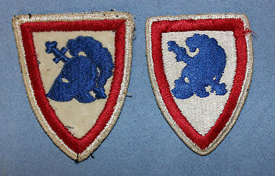 Two WWII Era US Military Academy Shoulder Patches