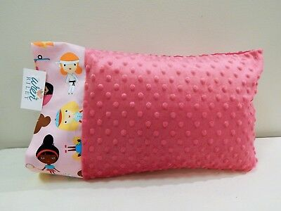 NWT Sports Minky Dot Toddler Pillowcase 12 x16 Baseball Soccer Ballet Tennis Gir