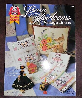 Design Originals Craft Projects Book Vintage Heirloom Linens Quilts Sewing 5105