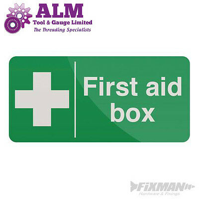 First Aid Box Sign 200 x 100mm Self-Adhesive Sticker