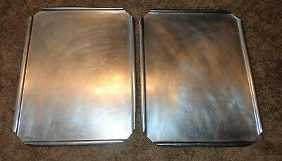 """2 Stainless Steel Restaurant Steam Table Pan Lids Covers 16 1/2"""" X 12 3/4"""" Wide"""