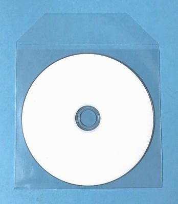 100 CD DVD Thin CPP Clear Plastic Sleeves with Flap Bag Envelope 60 micron