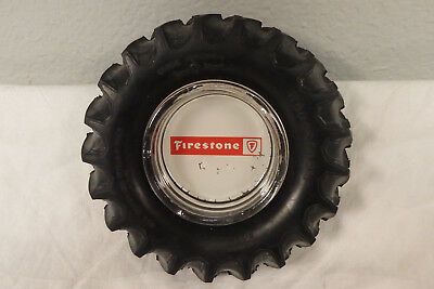 Vintage Firestone rubber tractor tire advertising ashtray farm