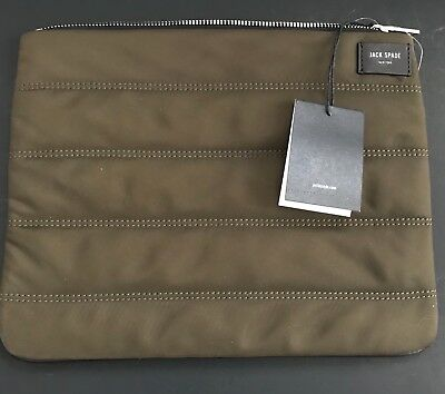 fdbd1d7c15 Jack Spade Men S Quilted Nylon Navy olive Cord Pouch New With Tags