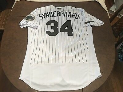 outlet store e50cc 63fa4 NOAH SYNDERGAARD JERSEY Mens 48 Majestic NY Mets Memorial Day World Series  Thor