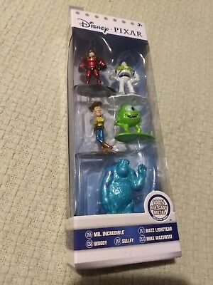 Jada Toys Disney Pixar - Nano Metalfigs - 5 Pack- New