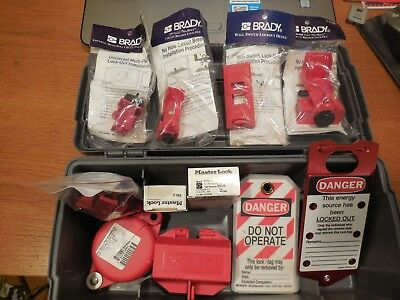 Brady Lockout Kit Tool Box No.65289  Free USA Shipping!