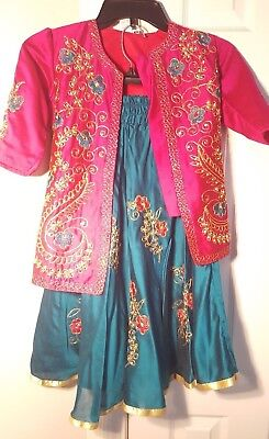 Kalapi Baroda Pakistani / Indian Fancy Traditional Kids Girl Dress 50 C.M. (20)