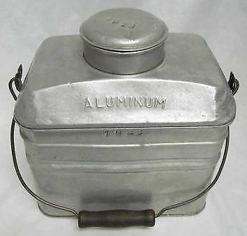 Miner Aluminum Lunch Bucket Pail SIGN Penn Metal Ware PARSONS PA Coal Mining '28