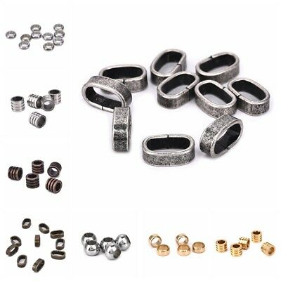 10pcs Vinatge Glossy Beads Stainless Steel Buckle Charm DIY Findings Accessories
