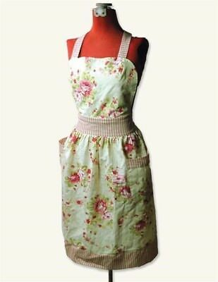 Victorian Trading Co Cabbage Pink & Red Roses Apron