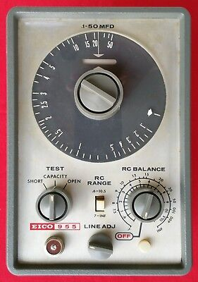 Eico Model 955 In Circuit Capacitor Tester with Probe and Manual (Refurbished)