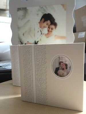"""TWO  Photo Album 4"""" X 6"""" Holds 160. For engagement / wedding Photos"""