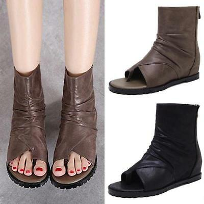 los angeles d173d 338a5 RETRO ROME WOMENS flip flops Sandals Ankle boots Gladiator Summer shoes  Thong US