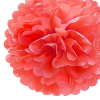 20'' Roseate Tissue Paper Pom Poms Flowers Balls, Decorations (4 Pack)