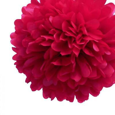 20'' Red Tissue Paper Pom Poms Flowers Balls, Decorations (4 Pack)