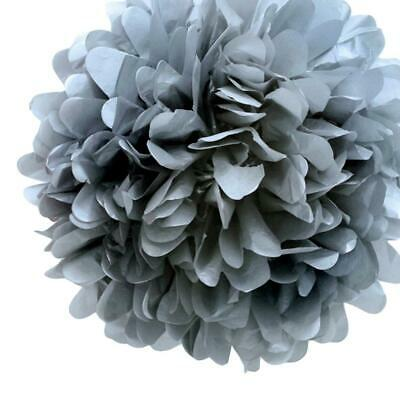 20'' Silver Tissue Paper Pom Poms Flowers Balls, Decorations (4 Pack)