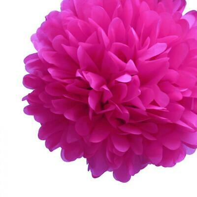 20'' Fuchsia Tissue Paper Pom Poms Flowers Balls, Decorations (4 Pack)