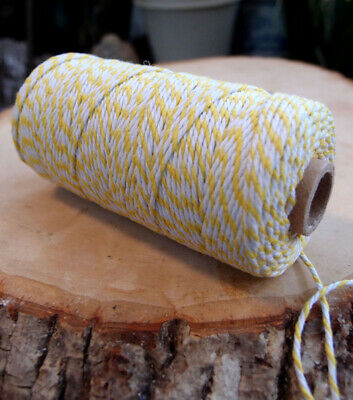 Yellow Bakers Twine Decorative Craft String (110 Yards)