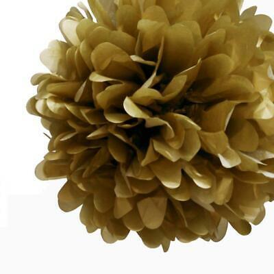 20'' Gold Tissue Paper Pom Poms Flowers Balls, Decorations (4 Pack)