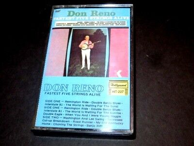 DON RENO Fastest Five Strings Alive STARDAY Country BLUEGRASS Cassette