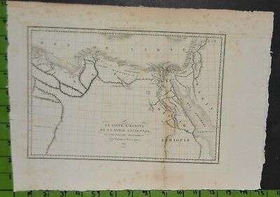 Antique Large 1824 Map of Ancient Egypt