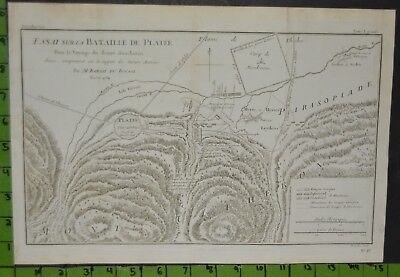 Antique 1784 Map of Ancient Greek Empire Battle Map