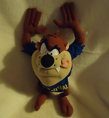 """Tasmanian Devil (Taz) Party Animal Plush Bendable Doll..approx 13""""..hard To Find"""