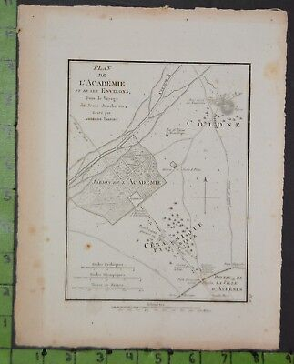 Antique 1784 Map of Ancient Athens Greece