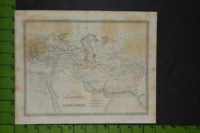 Antique 1820's Map of Ancient Greek Alexander the Great
