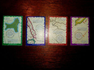 Christmas Island 1991 MUH Early Maps, Names and Places set/4