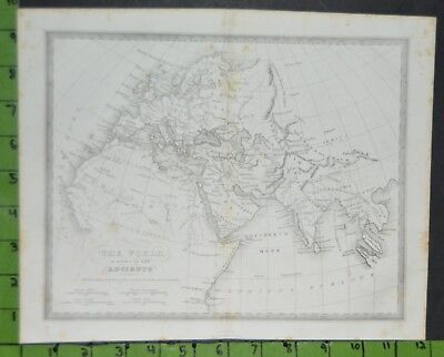 Antique 1820's Map of the Ancient World