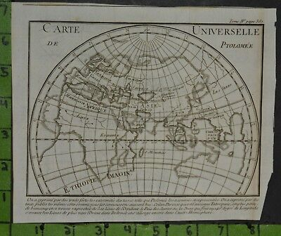 Antique 1730's Map of the Ancient World