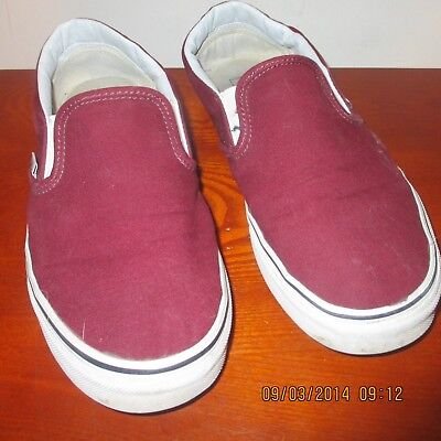 ee2b602689 Vans Off The Wall Classic Slip On Mens Size 8.5 -Womans Size 10- Burgundy
