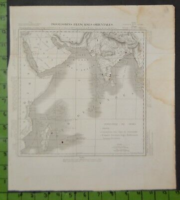Antique Large Map of French Colonies in Orient 1818