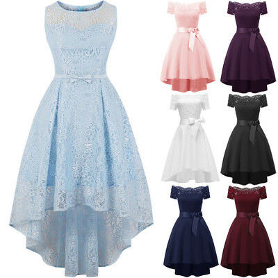 AU Womens Sleeveless Lace Formal Ladies Cocktail Prom Bridesmaid Dress Plus Size