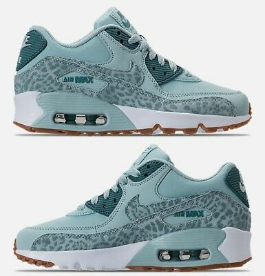 77f838ff28 NIKE AIR MAX 90 Leather Girl's Casual Ocean Bliss - White - Noise Aqua  Authentic - $139.99 | PicClick