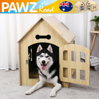 Large Dog House Kennel Pet Timber Log Cabin Outdoor Indoor Chicken Rabbit Cage