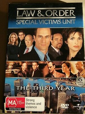 Law and Order: SVU Special Victims Unit: The Third Year (Season 3) 6 DVDS AS NEW