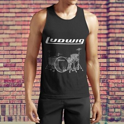 New Popular Ludwig Drumset Percussion Drum Cymbal Drums Tank Top S-5XL Shirt