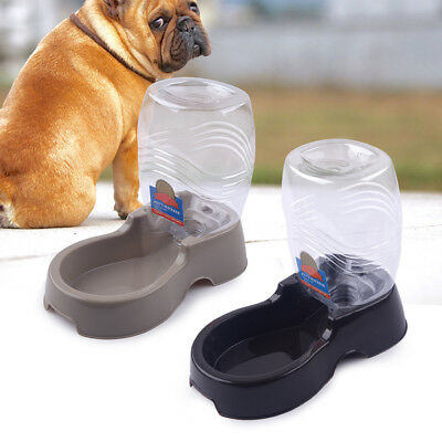 1pcs Automatic Pet Dog Cat Puppy Water Food Feeder Fountain Bowl Dish Dispenser