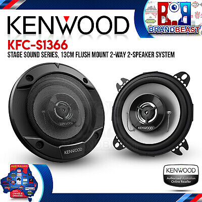 "Kenwood KFC-S1366 Stage Sound Series 5.25"" 260W 2 Way Coaxial Speakers"